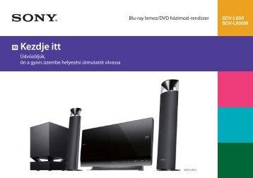 Sony BDV-L800 - BDV-L800 Guida di configurazione rapid Ungherese