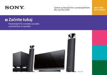 Sony BDV-L800 - BDV-L800 Guida di configurazione rapid Sloveno