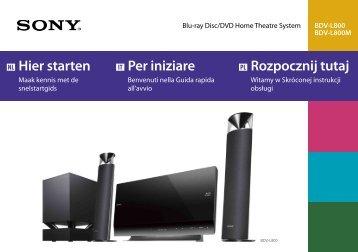 Sony BDV-L800 - BDV-L800 Guida di configurazione rapid