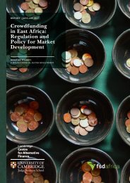 Crowdfunding in East Africa Regulation and Policy for Market Development