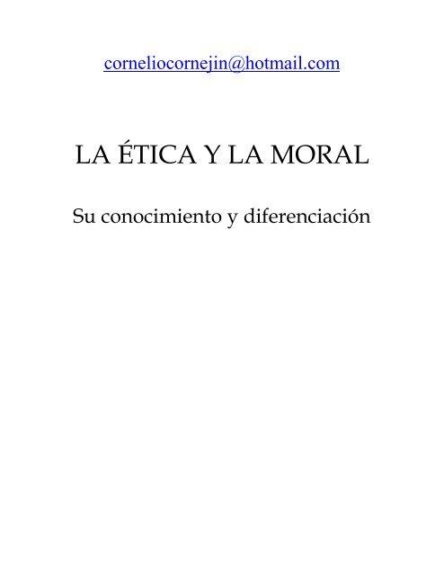 La ética Y La Moral Monografias Com