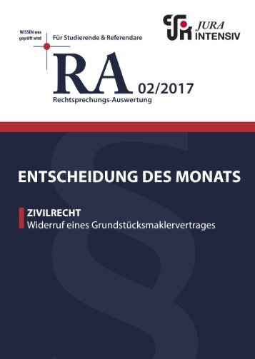 RA 02/2017 - Entscheidung des Monats