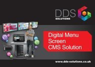 Digital Menu Screen CMS solution