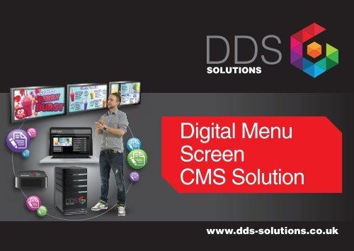 Digital Menu Screen CMS solution