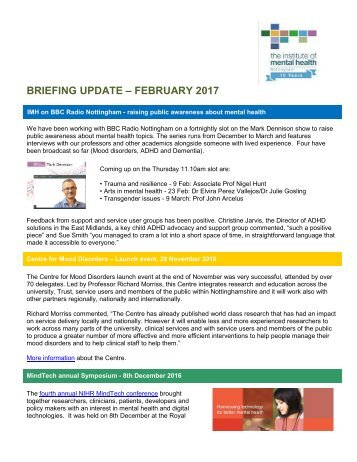 BRIEFING UPDATE – FEBRUARY 2017