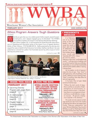 WWBA February Newsletter