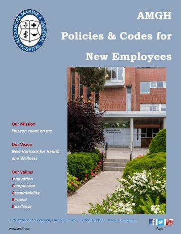 Orientation - AMGH Policies and Codes