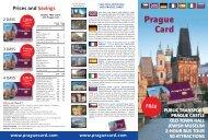 Prague Card Flyer 2015