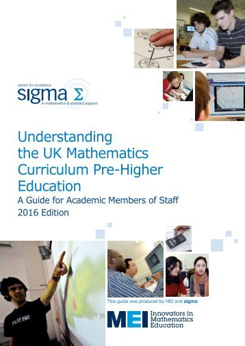 the UK Mathematics Curriculum Pre-Higher Education
