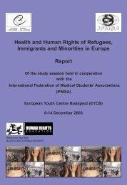 Associations (IFMSA) European Youth Centre Budapest (EYCB)
