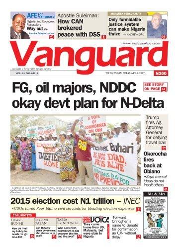01022017 - FG, oil majors, NDDC okay devt plan for N-Delta