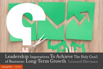 Leadership To Achieve Long-Term Growth
