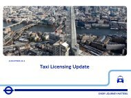 Taxi Licensing Update