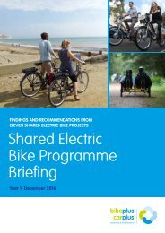 Shared Electric Bike Programme Briefing