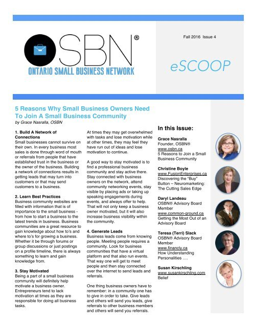 eScoop -Issue 4  - Fall 2016