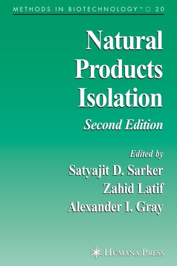METHODS IN BIOTECHNOLOGY Natural Products Isolation ...