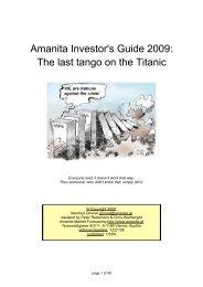 Amanita Investor's Guide 2009 - Amanita Market Forecasting