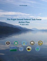 The Puget Sound Federal Task Force Action Plan