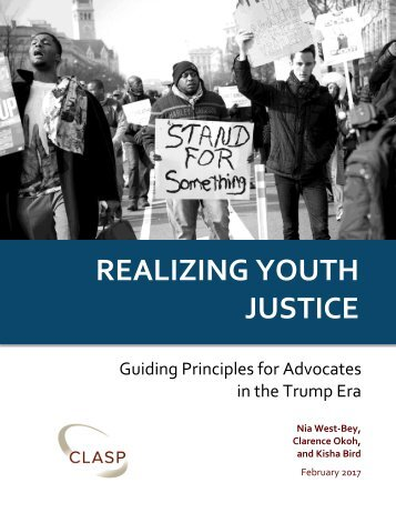 REALIZING YOUTH JUSTICE
