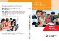 Beruf Aktuell 2012/13 - Bundesagentur für Arbeit