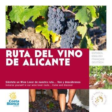 Alicante wine lover route
