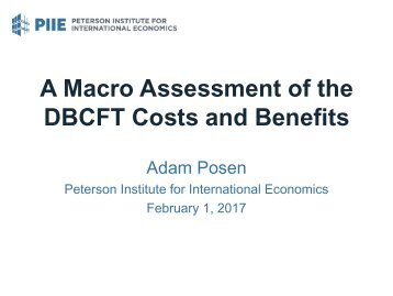 DBCFT Costs and Benefits