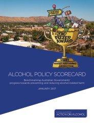 ALCOHOL POLICY SCORECARD