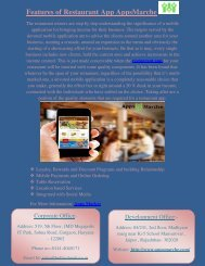 Features of Restaurant App AppsMarche