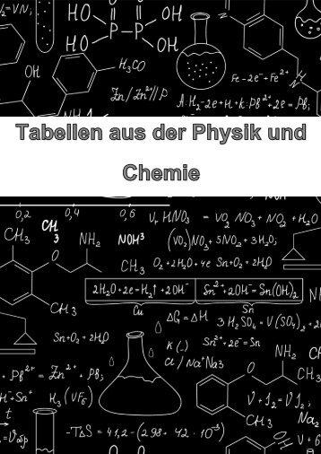 Tabellen aus der Physik und Chemie