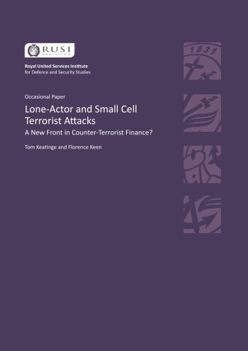 Lone-Actor and Small Cell Terrorist Attacks