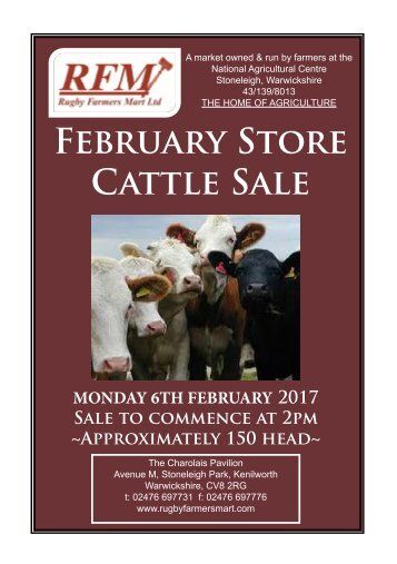 February Store Cattle Sale