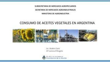 CONSUMO DE ACEITES VEGETALES EN ARGENTINA