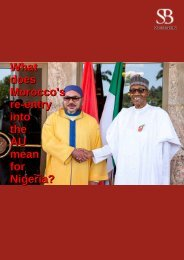What does Morocco's re-entry into the AU mean for Nigeria?