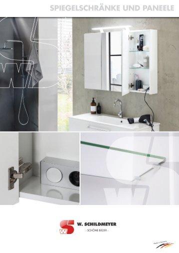 Spiegelschränke und Paneele Katalog 2017