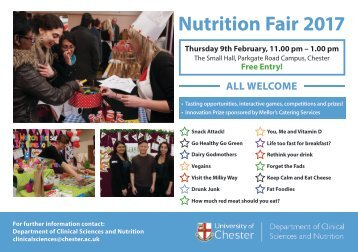 Nutrition Fair flyer A5
