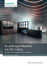 Siemens Einbaugeräte 2018