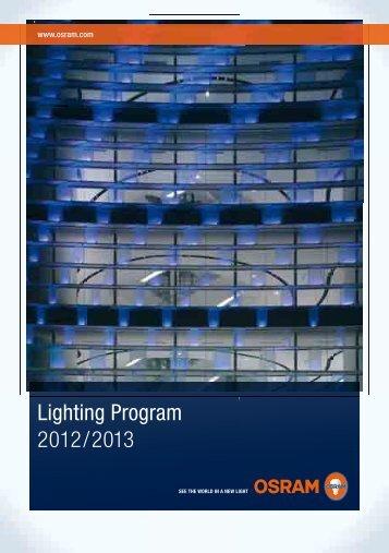 Lighting Program 2012/2013 - Osram
