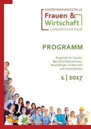 Weiterbildungsprogramm 1.Halbjahr 2017- Koordinierungsstelle Frauen und Wirtschaft, Northeim