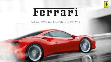 Full Year 2016 Results – February 2  2017