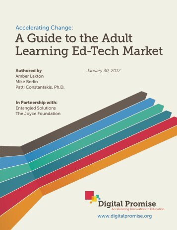 A Guide to the Adult Learning Ed-Tech Market