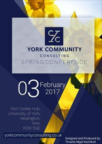 YCC Spring Conference - Welcome Booklet