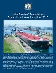 Lake Carriers' Association State of the Lakes Report for 2017