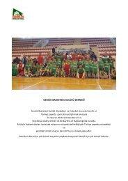Gemlik Basketbol Kulübü HK.  Dilekçe