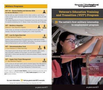 VET2 Program Brochure 2017