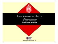 Leadership Styles - Delta Sigma Theta Sorority, Inc.
