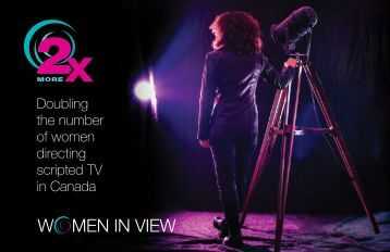 Doubling the number of women directing scripted TV in Canada