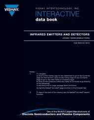 Infrared Emitters and Detectors Data Book - Vishay