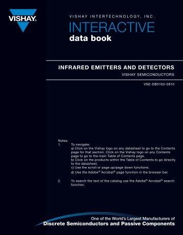 Infrared Emitters and Detectors Data Book - Vishay
