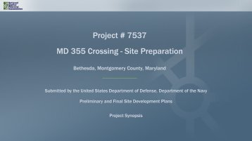 Project # 7537 MD 355 Crossing - Site Preparation