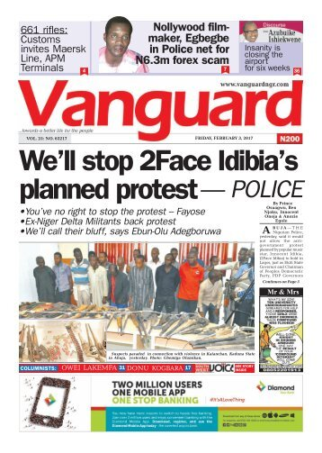 03022017 We'll stop 2Face Idibia's planned protest — POLICE
